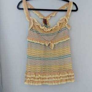Frilly Yellow Missoni tank